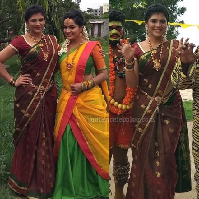 Sangeetha Kamath Telugu TV actress CTS1 4 hot saree photo
