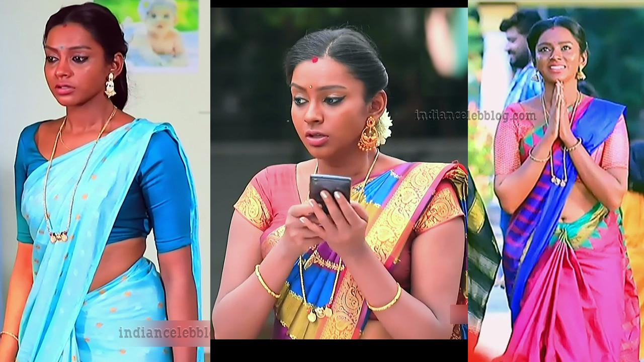 Ashwini Kannada TV actress saree navel show HD caps