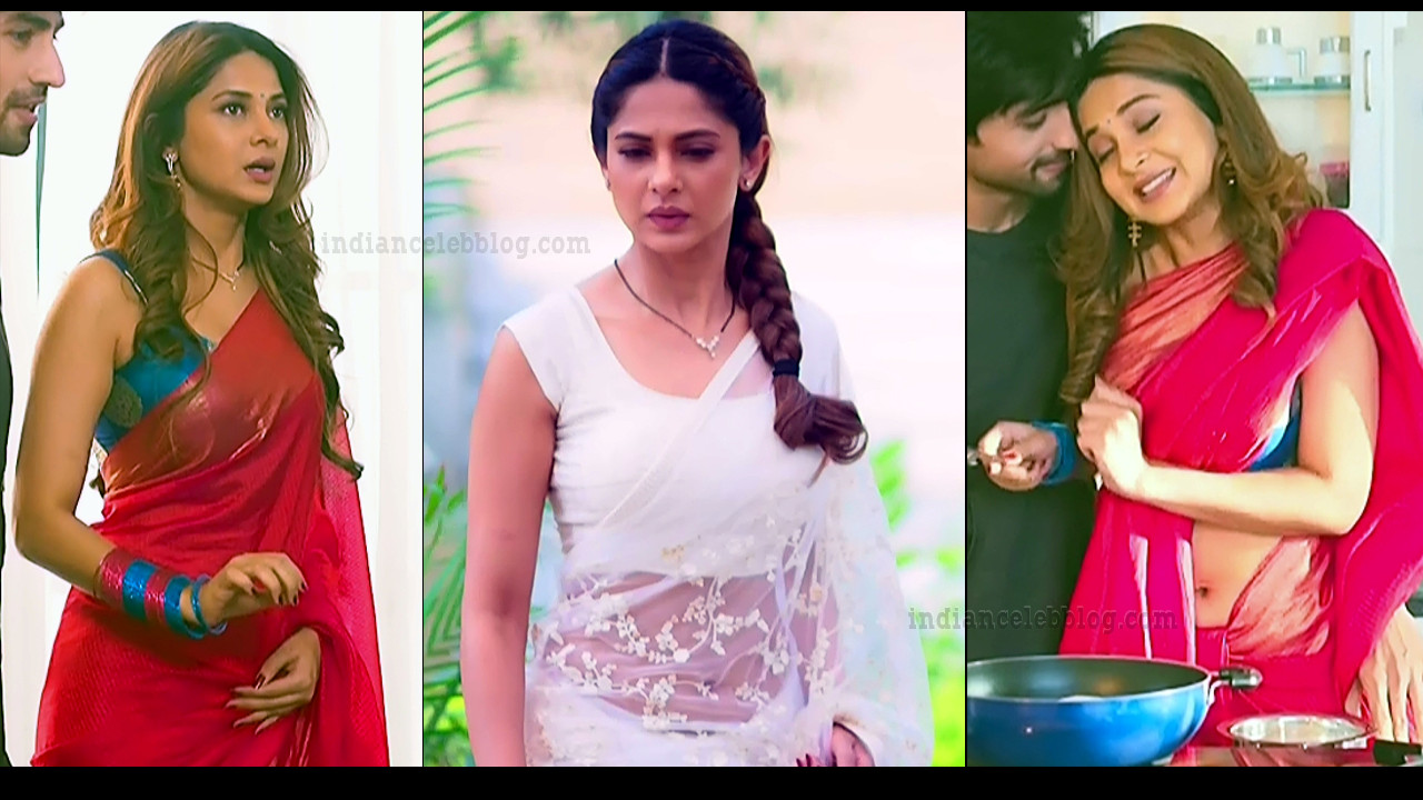 Jennifer Winget Bepannah TV serial hot saree navel show caps