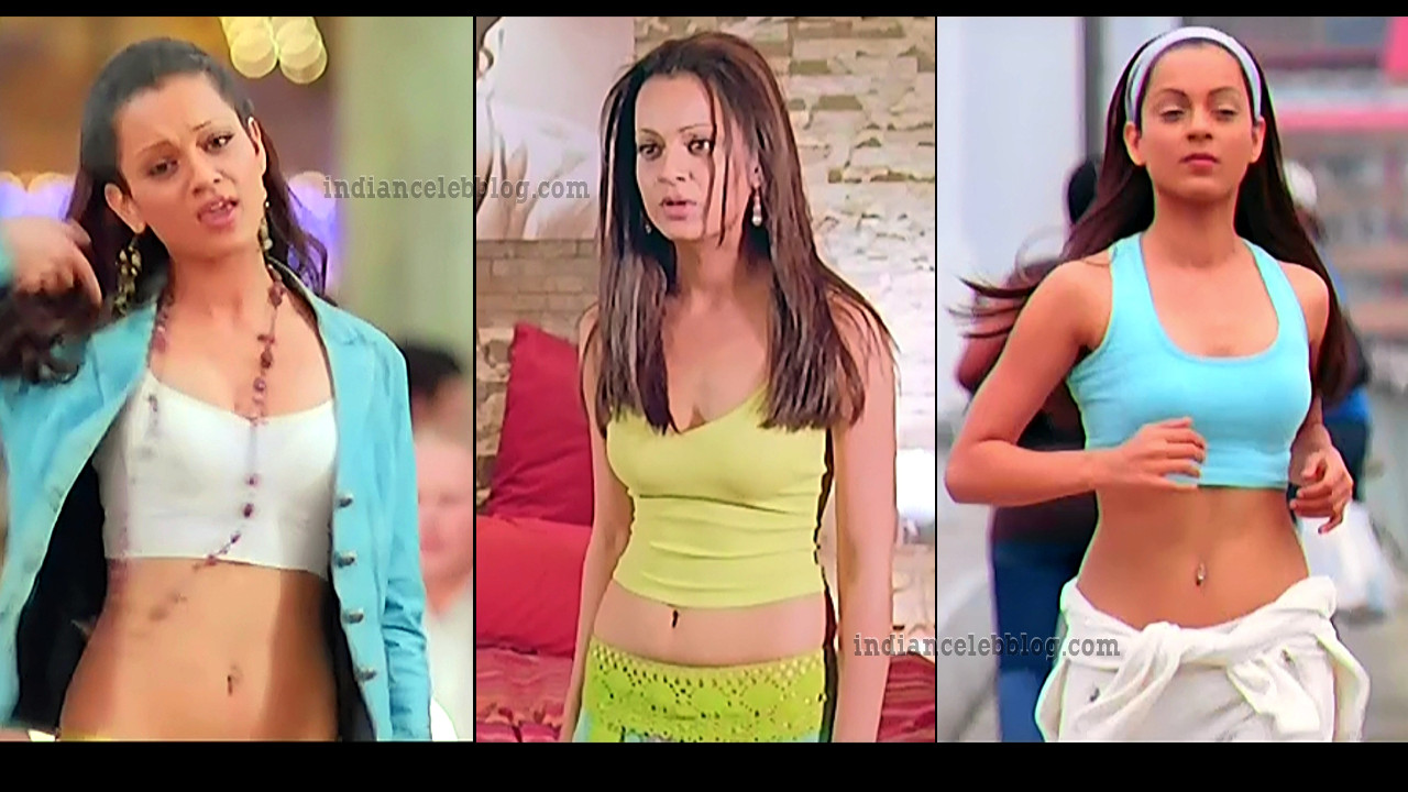 Kangana Ranaut sexy navel n cleavage bollywood movie caps