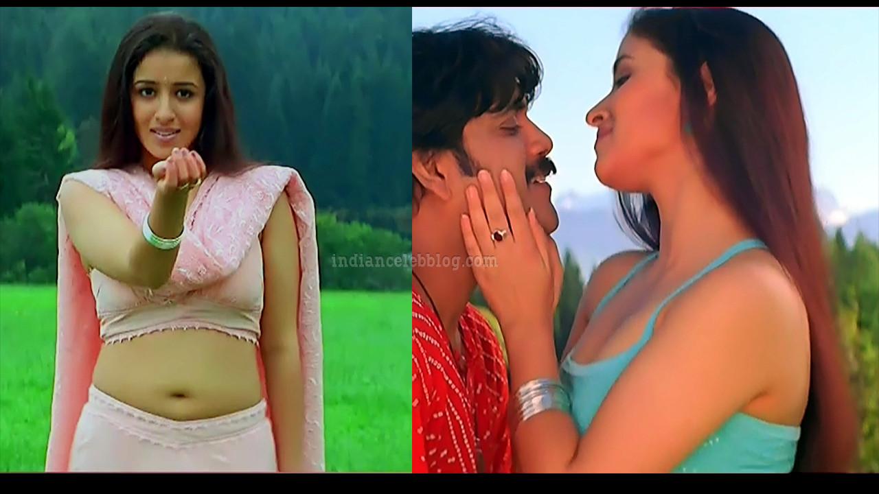 Anshu Ambani hot navel show song caps from Manmadhudu