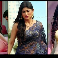 Mouni Roy hot backless saree caps from Naagin 1