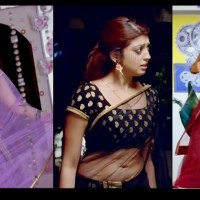 Pranitha Subhash Hot saree navel show Rabhasa HD caps