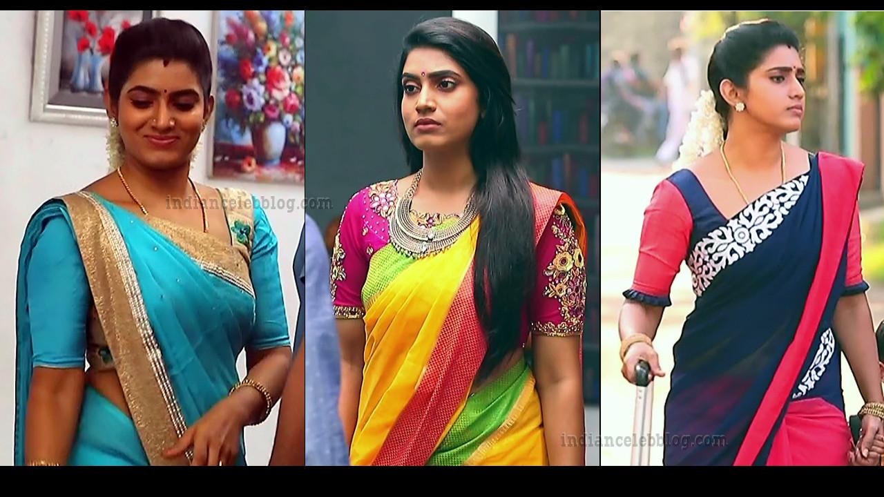Sameera Sherief Tamil tv serial hot Saree Captures