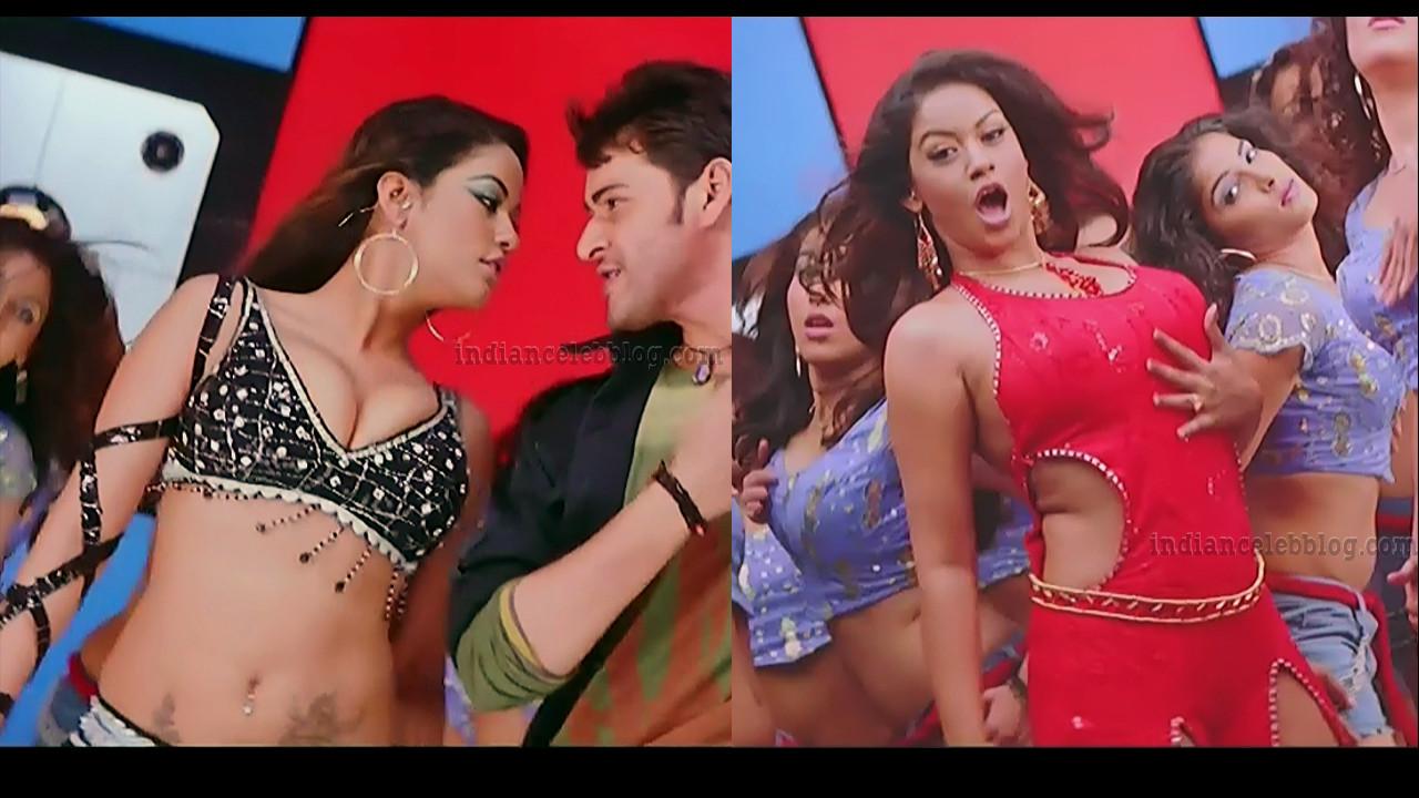 Mumaith Khan hot song caps from telugu movie Pokiri