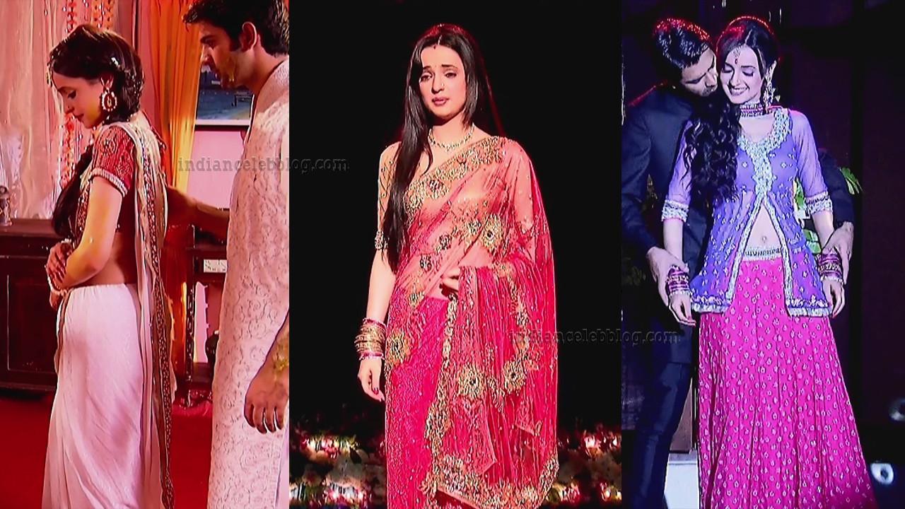 Sanaya Irani TV serial actress hot saree Caps