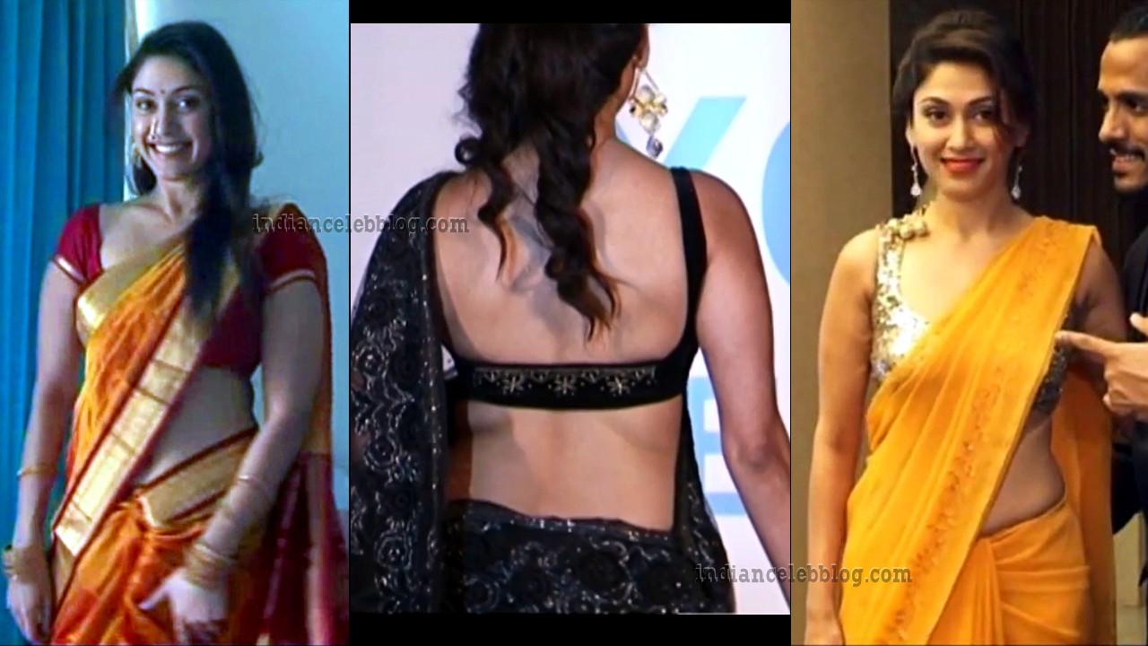 Manjari Phadnis hot saree pics at bollywood events