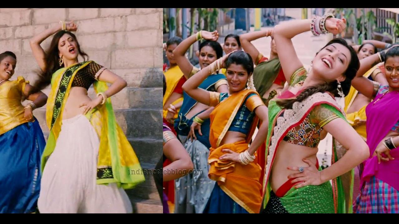 Kajal Aggarwal All in all azhagu raja tamil movie saree caps