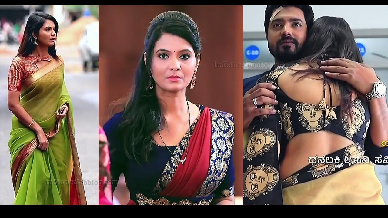 Shwetha R Prasad Saree Caps from Radha ramana serial