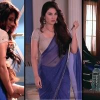 Tiya Gandwani Hindi TV actress backless Saree Caps