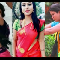 Alya Manasa tamil serial actress hot saree navel show