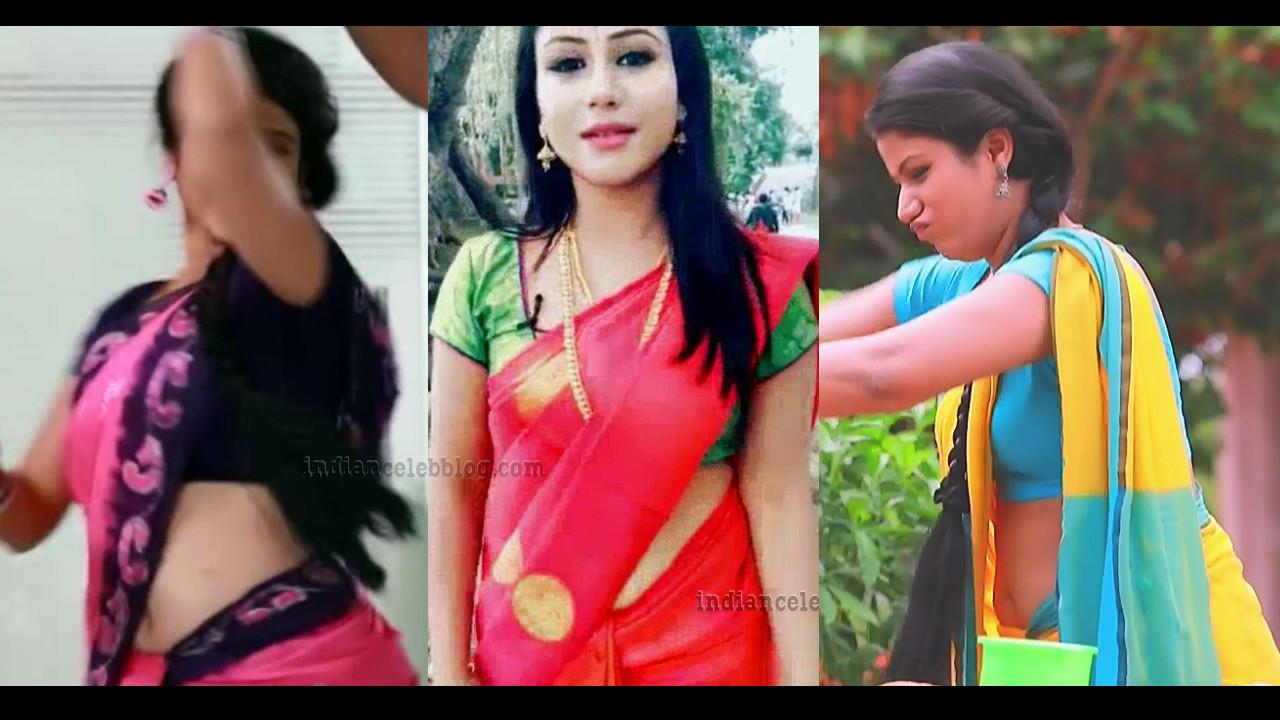 Alya Manasa tamil serial actress hot saree navel show