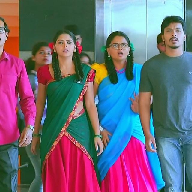 Amulya Gowda Kamali kannada serial S1 3 half sari pic