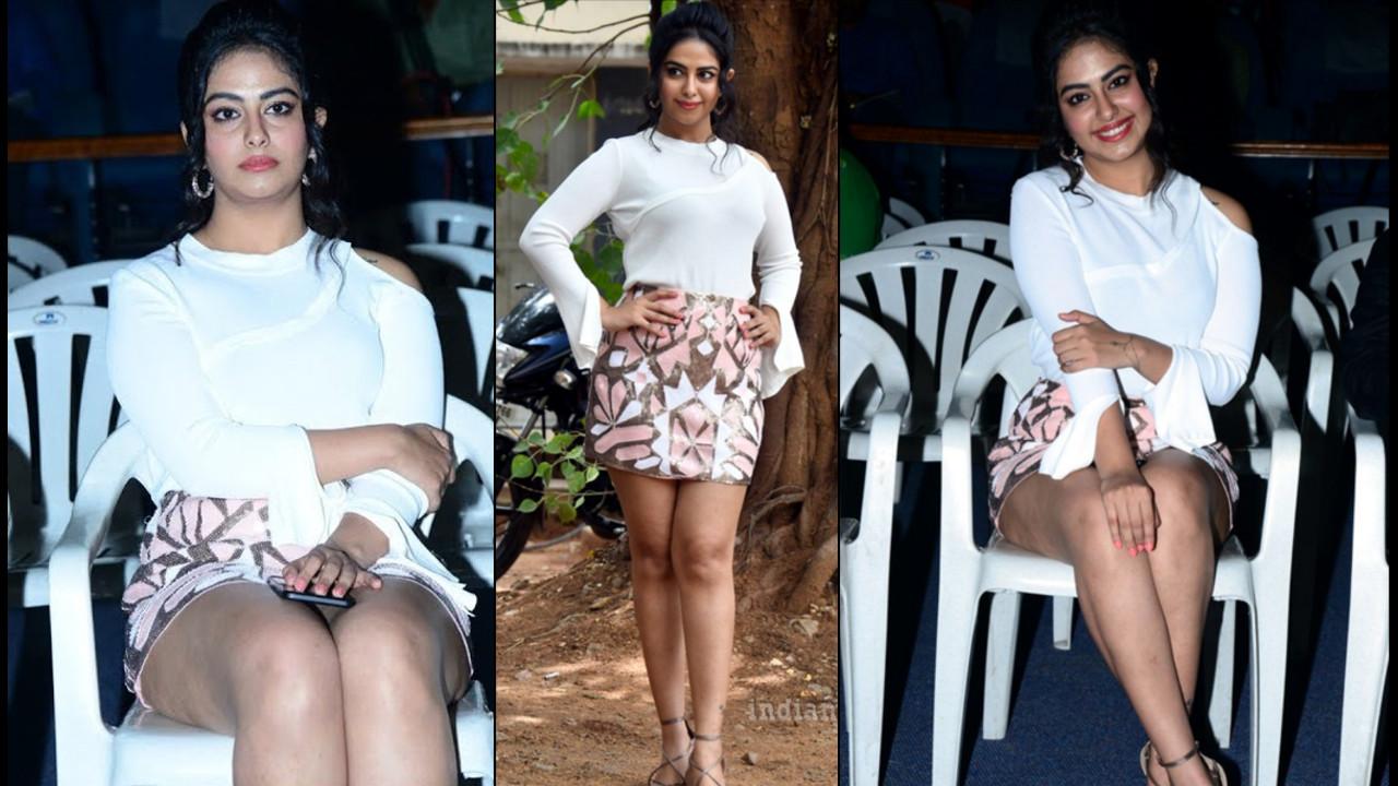 Avika gor Tollywood event leg show in short skirt