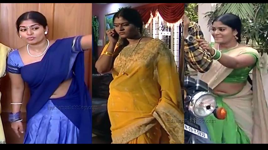 Neepa tamil TV actress hot saree navel show.