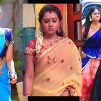 Aishwarya Pisse Kannada serial hot Caps in Saree