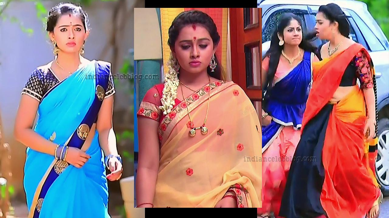 Aishwarya Pisse Kannada serial hot Caps in Saree