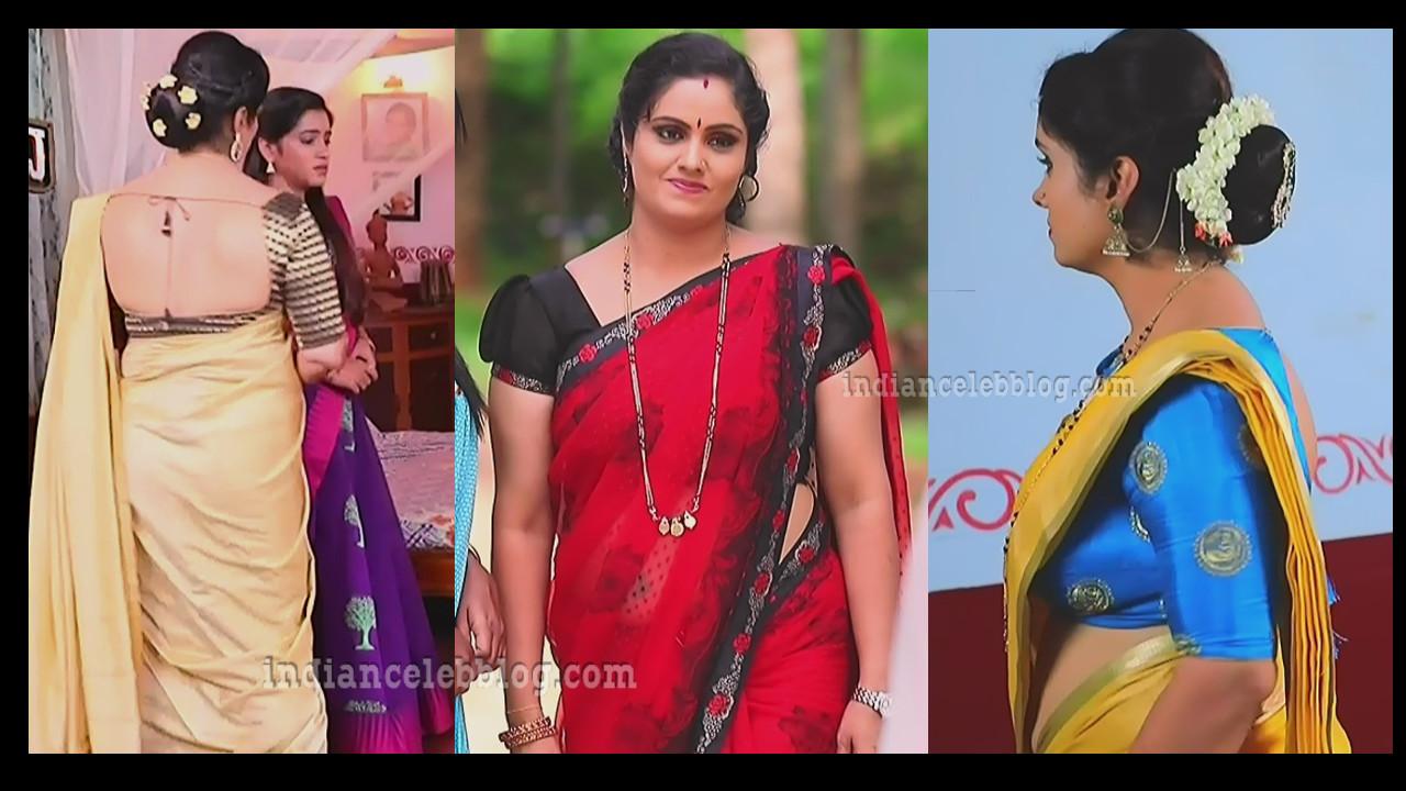 Bili hendthi kannada serial actress saree caps