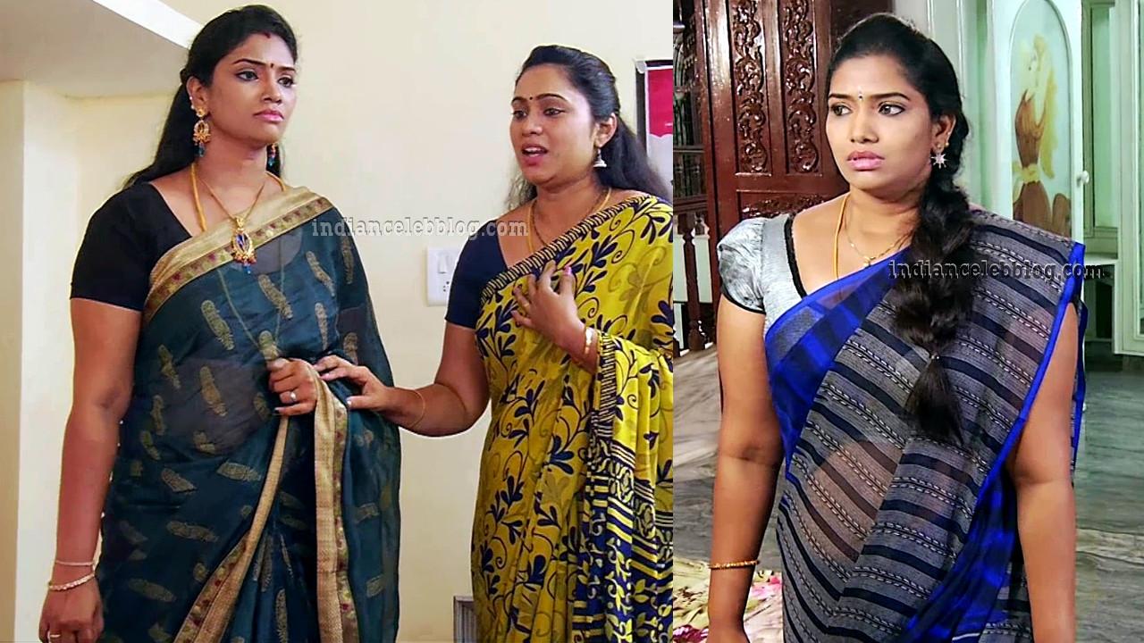 Krithika vamsam tamil tv serial actress sari caps