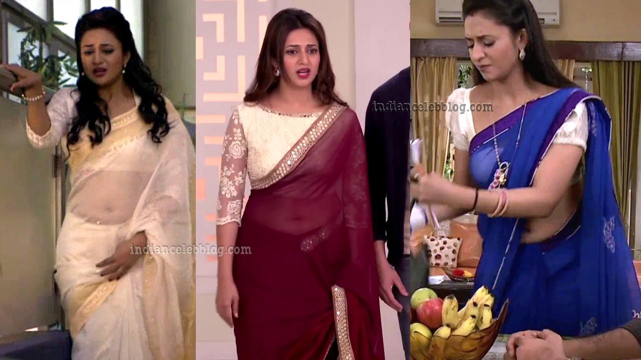 Divyanka tripathi Yeh hai mohabbatein hot saree navel show