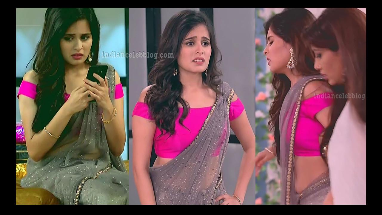 Rhea Sharma hindi tv actress hot saree caps