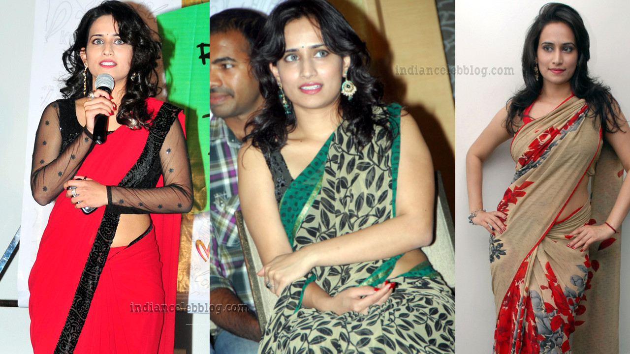 Chinmayi Ghatrazu telugu actress hot event pics in saree.