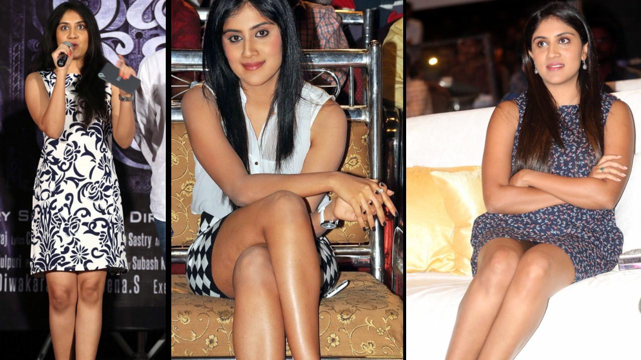 Dhanya Balakrishna telugu event hot legs show photos
