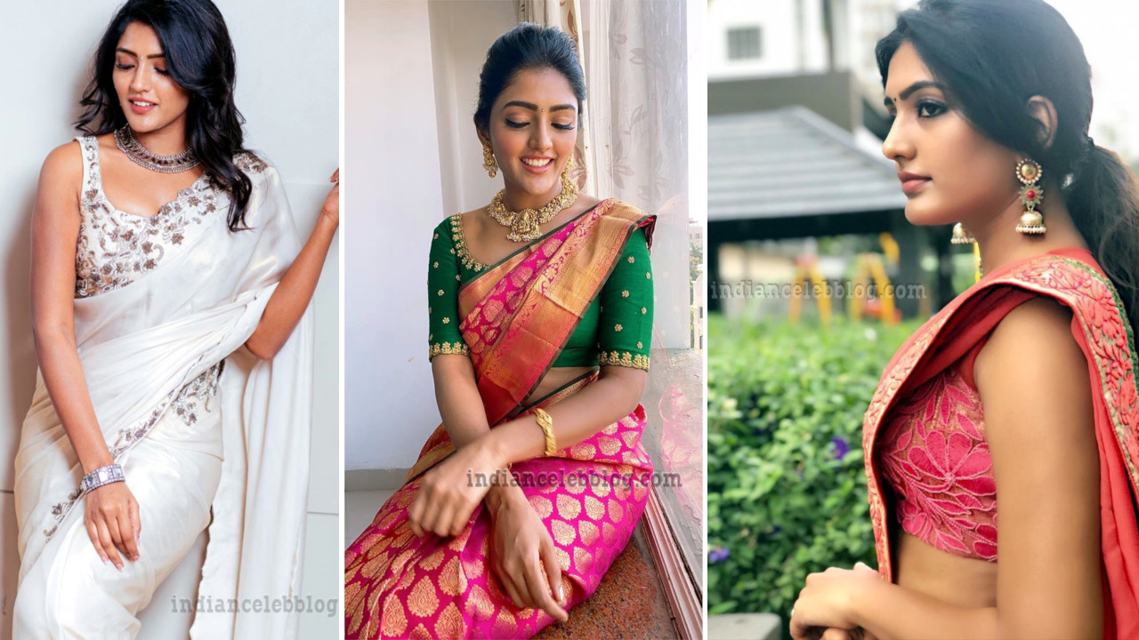 Eesha Rebba Telugu actress hot sleeveless saree pics