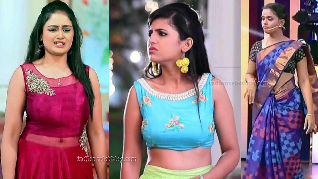 Kannada serial actress hot midriff navel show hd caps mix