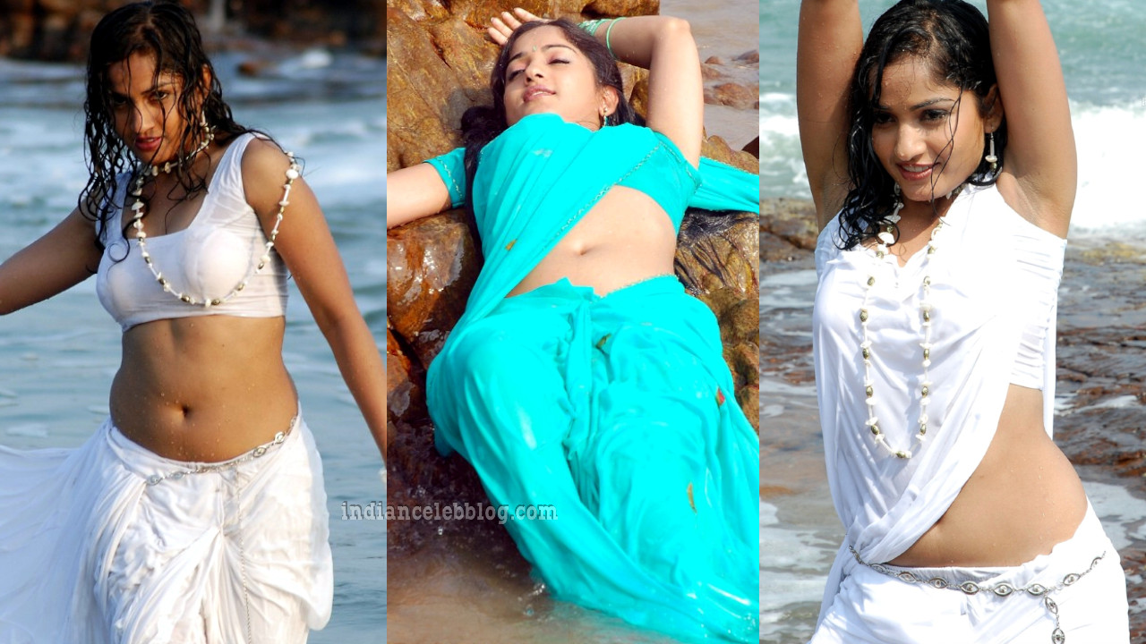 Madhavi latha telugu actress hot saree navel show photo gallery