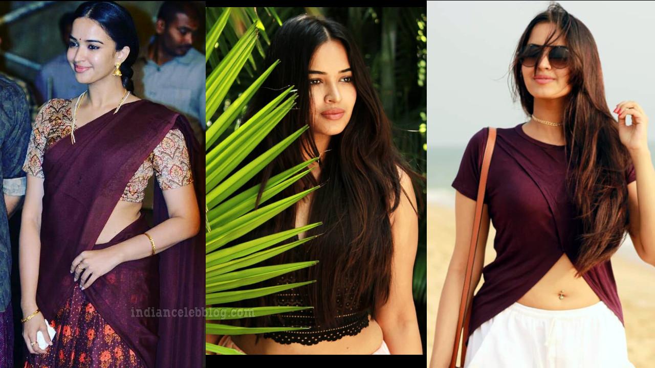 Pujita ponnada telugu actress hot glamorous social media photos