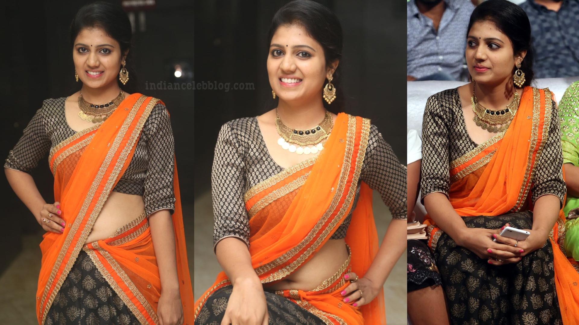 Divya kola south actress hot event pics in sari