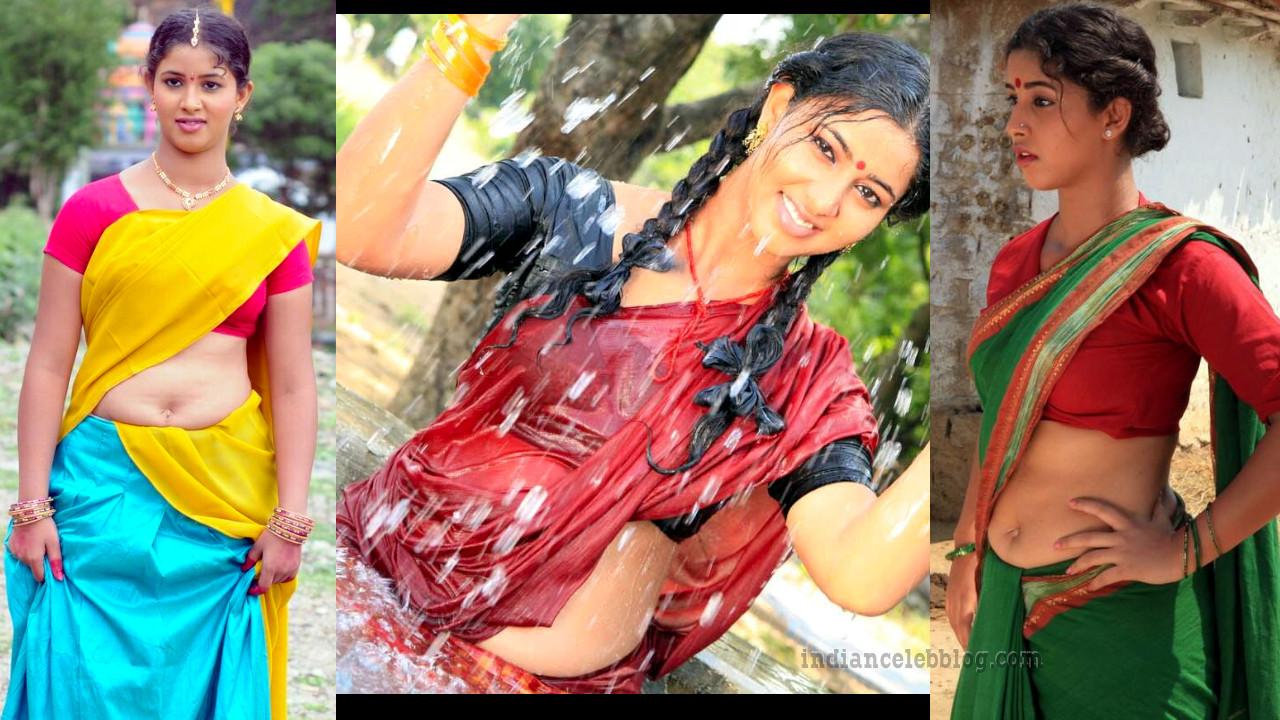 Greeshma pavani hot saree navel show stills
