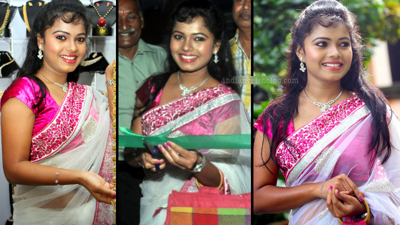 Naveena jackson transparent saree pics at showroom launch