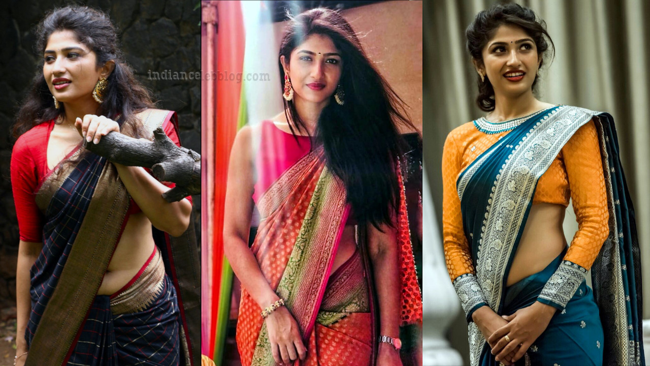 Roshni prakash kannada actress hot sari pics
