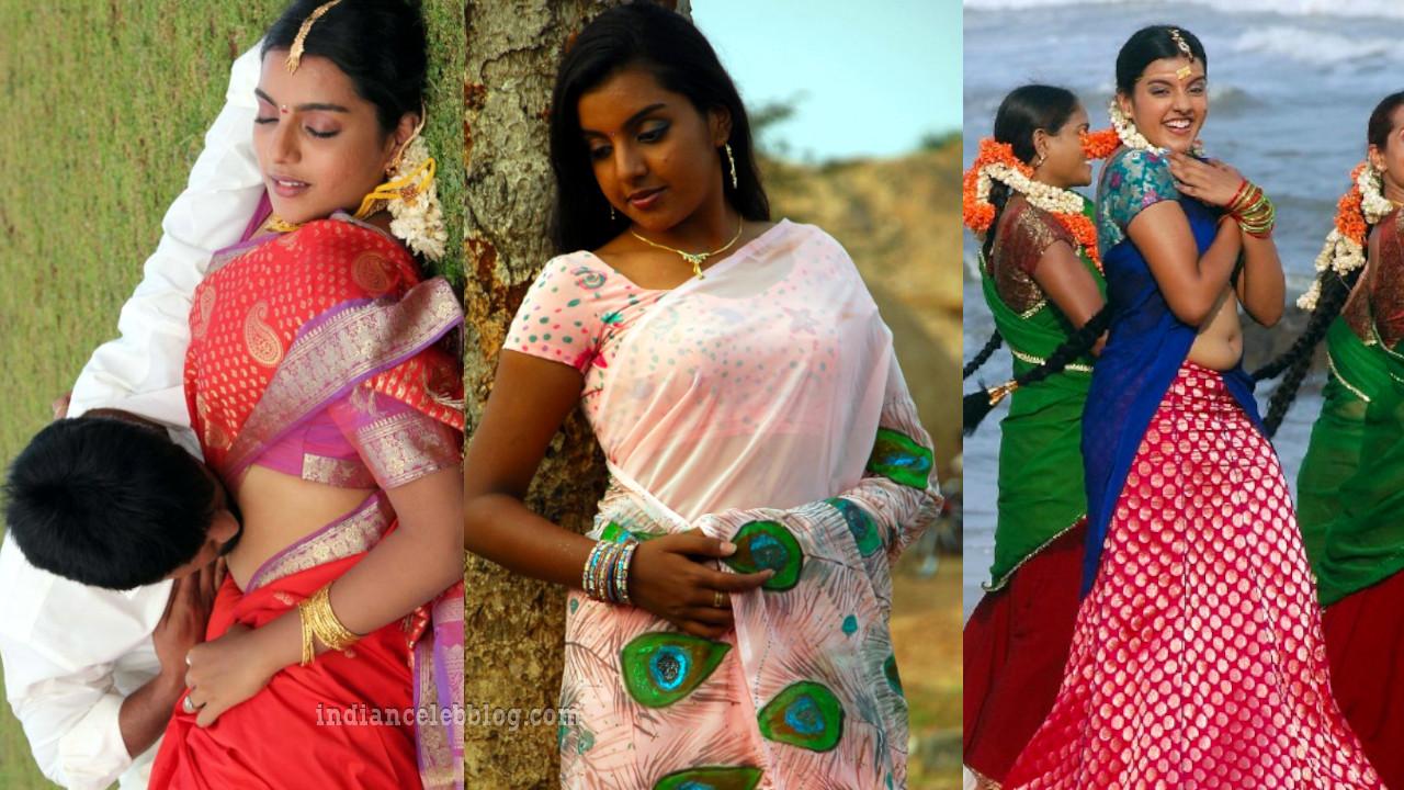 Divya nagesh kollywood actress hot saree navel show stills