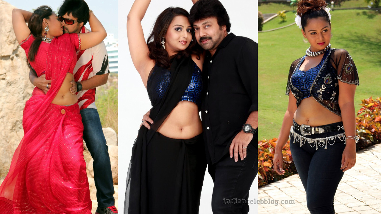 Dhivya prabha south indian actress spicy saree stills