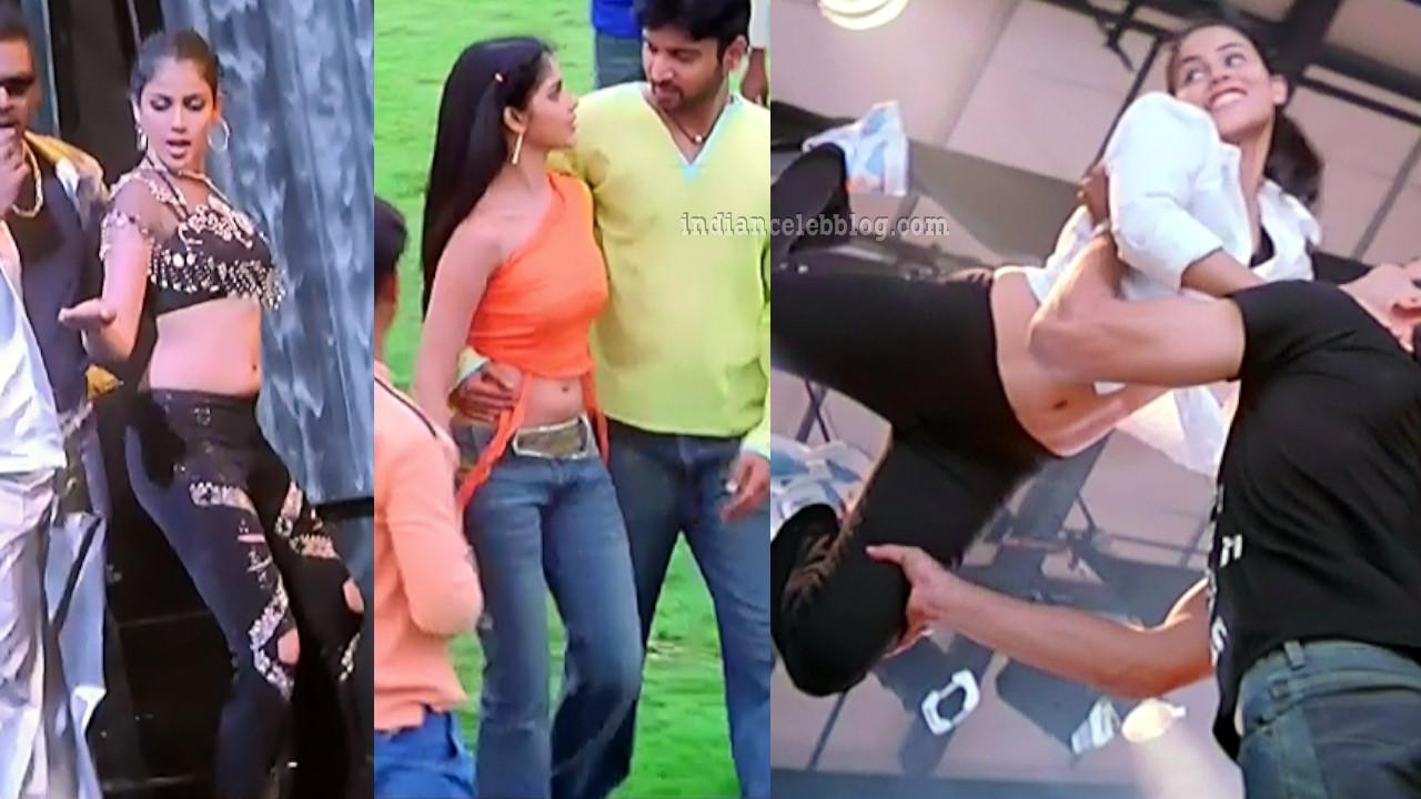 Genelia D'souza hot navel show caps from Satyam