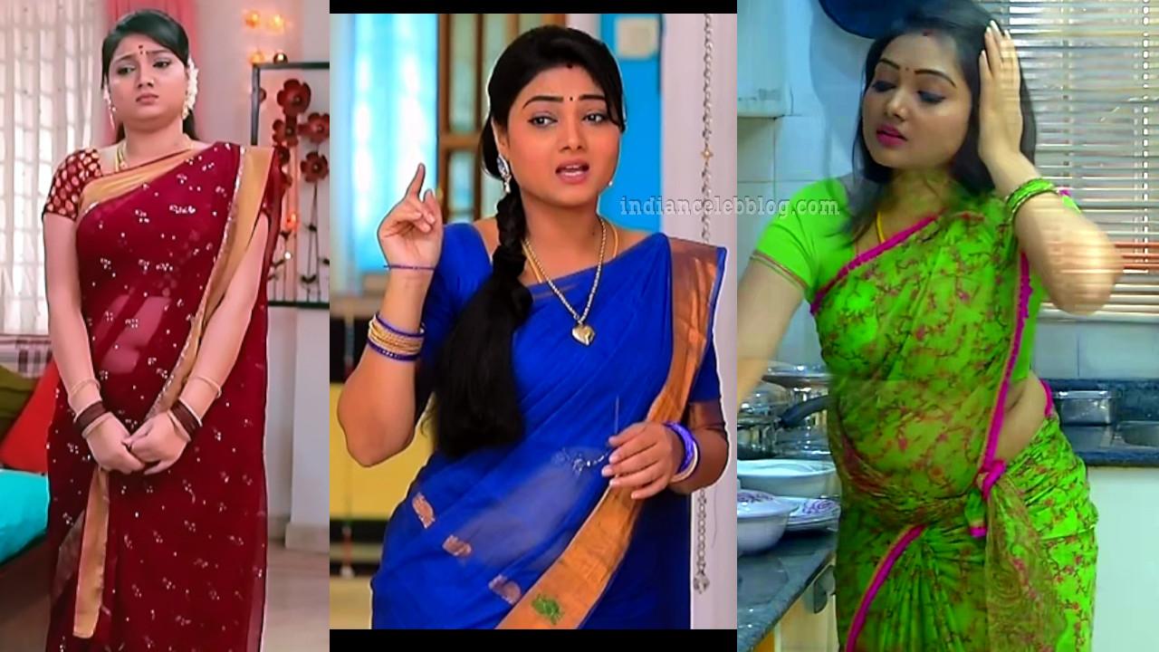 Priyanka nalkar telugu tv actress hot saree caps