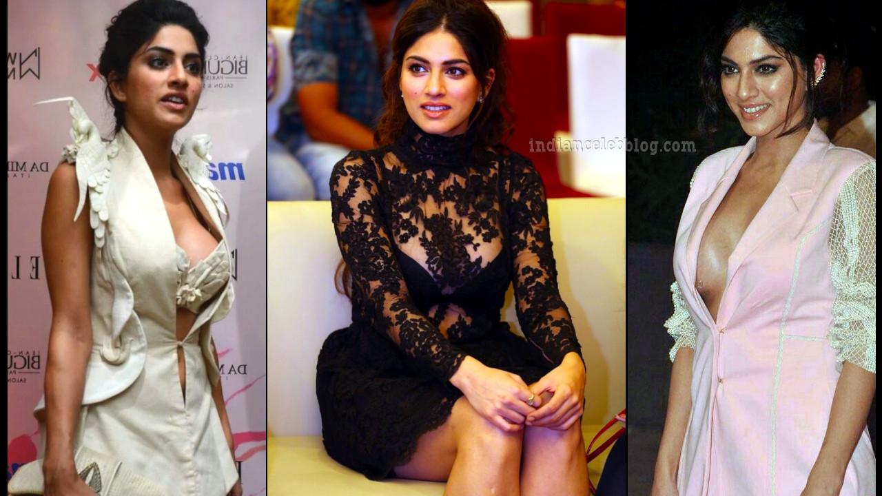 Sapna pabbi flaunts cleavage at bollywood event
