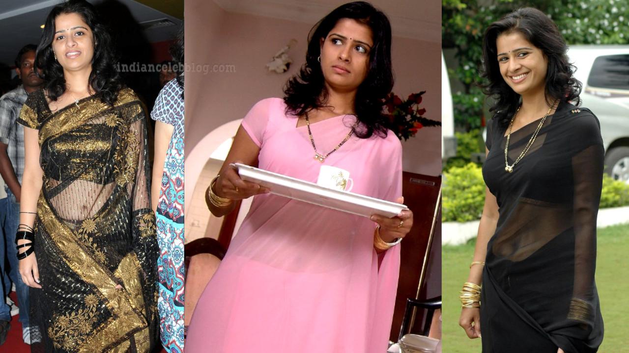 Satya krishnan telugu character actress saree navel show
