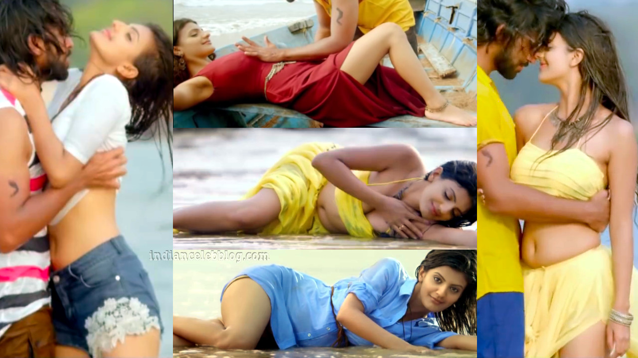Tanishq tiwari telugu actress hot beach song HD caps