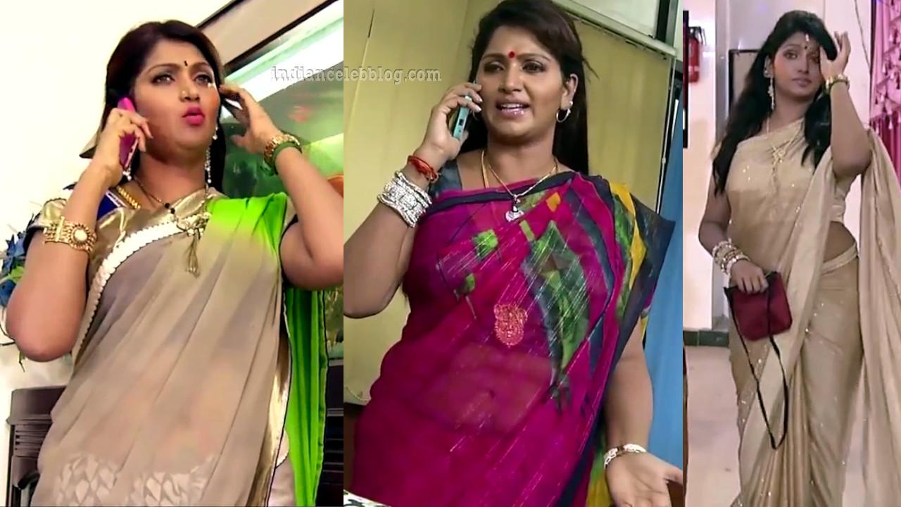 Bhuvaneswari saree caps from tamil tv series chandralekha