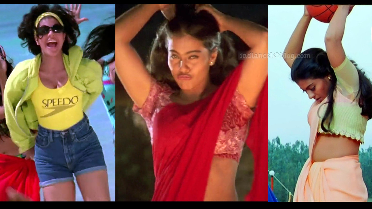 Kajol hot saree show hd screencaps from kuch kuch kota hai