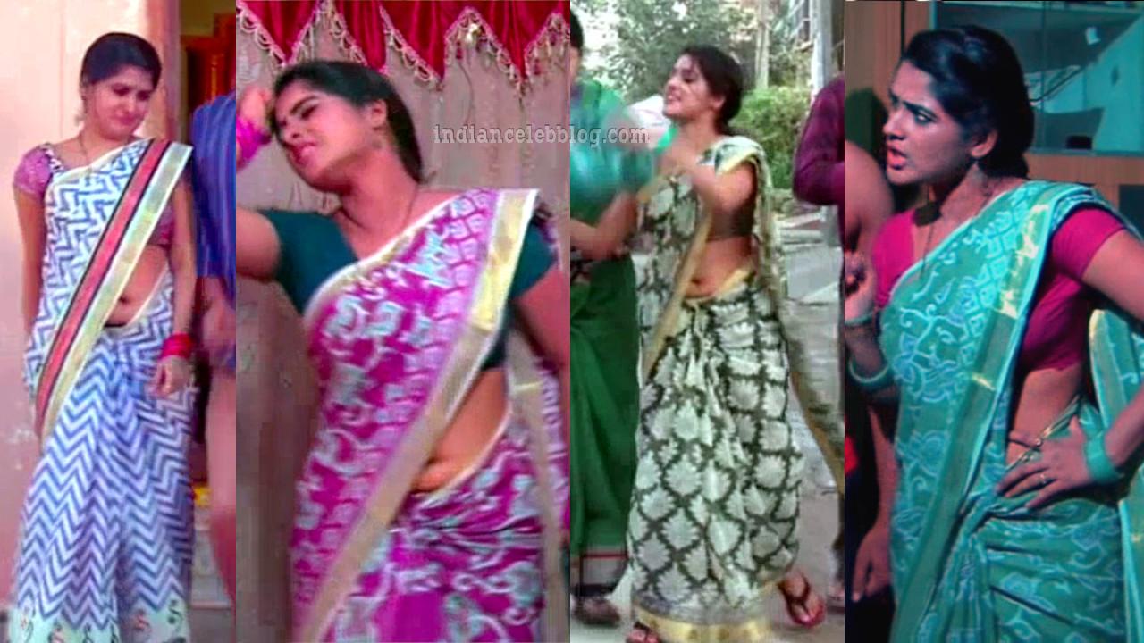 Monisha telugu tv actress hot saree navel show
