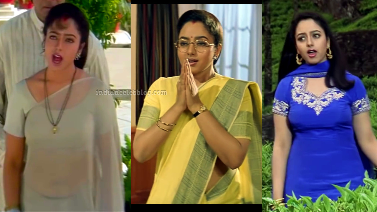 Soundarya in saree from hindi movie sooryavansham