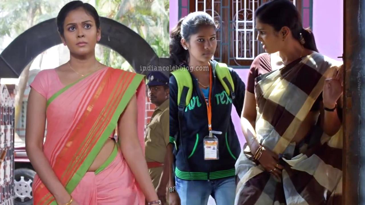 Chandini tamilarasan kollywood movie actress saree caps