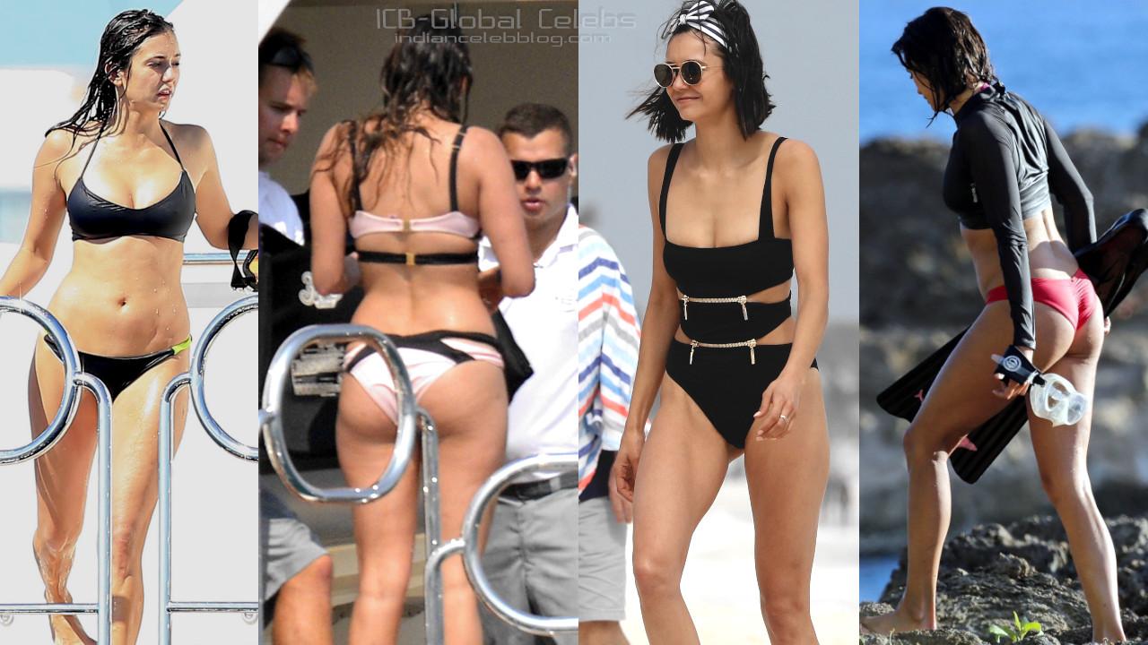 Nina dobrev canadian actress bikini paparazzi pics