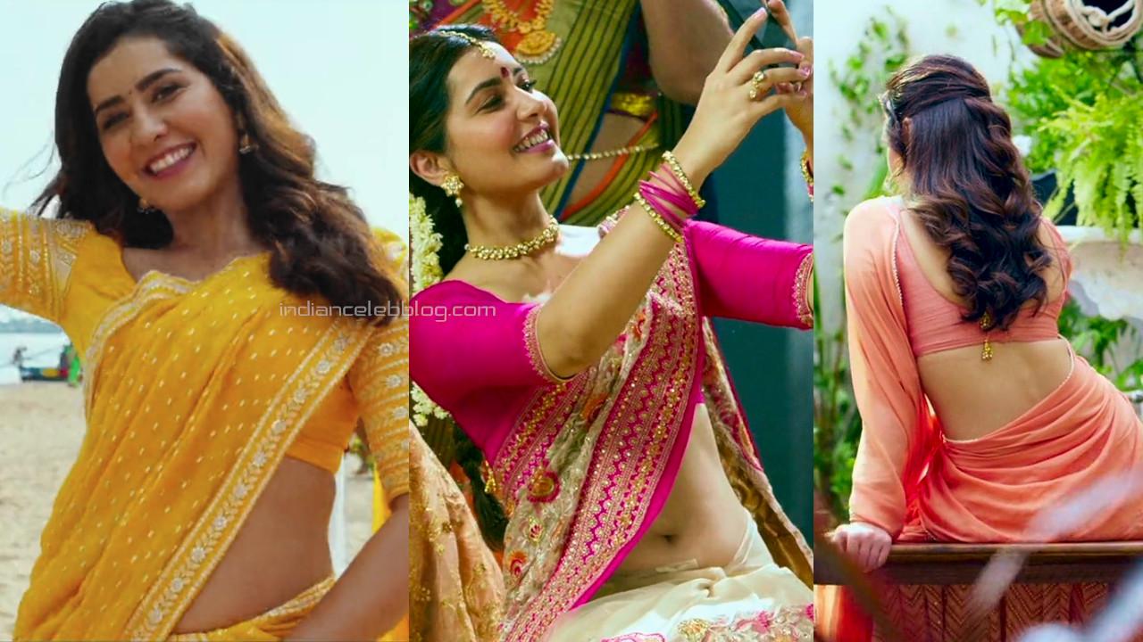 Tollywood actress Raashi khanna telugu film hot sari caps