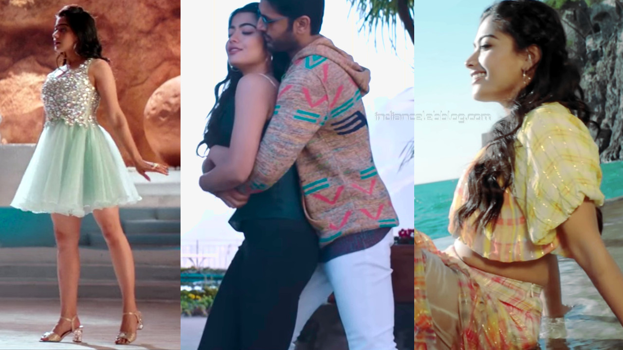 Rashmika mandanna kannada actress hot song caps